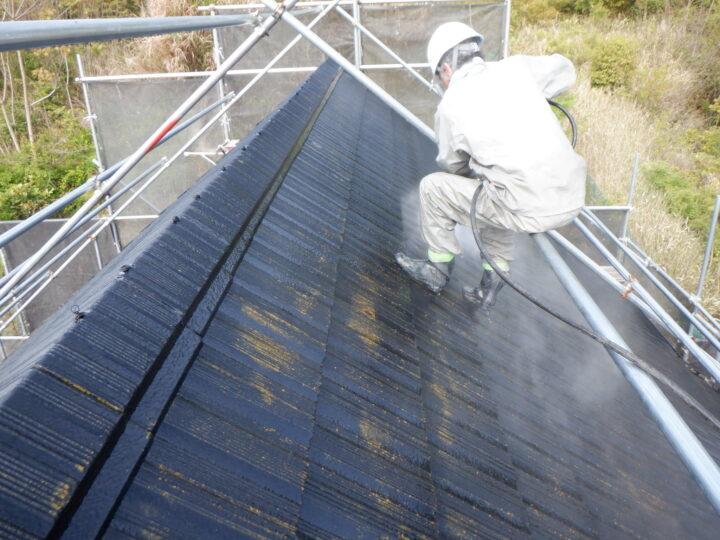 屋根高圧水洗浄
